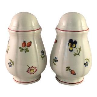 Villeroy & Boch Petite Fleur Salt & Pepper Shaker Set - a Pair For Sale