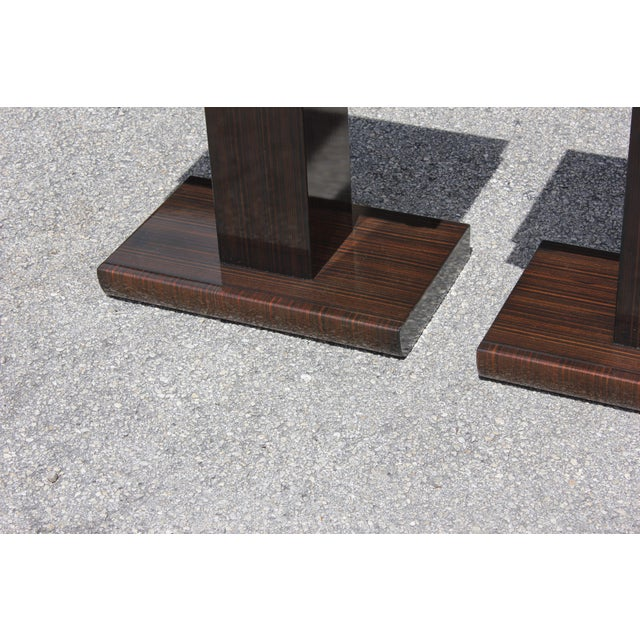 French Art Deco Macassar Ebony Nightstands - A Pair - Image 8 of 10