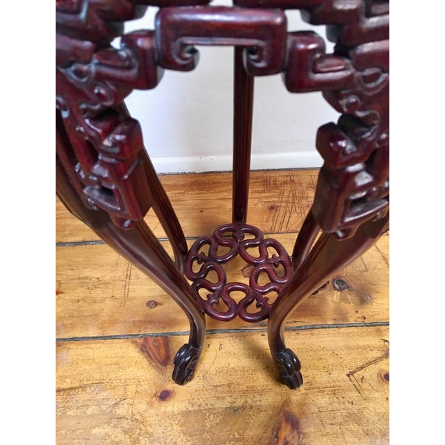1940s Chinese Rosewood Pedestal Table For Sale - Image 4 of 7