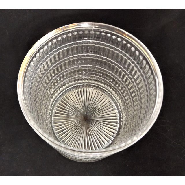 Art Deco Vintage Art Deco Clear Pattern Glass Ice Bucket For Sale - Image 3 of 5