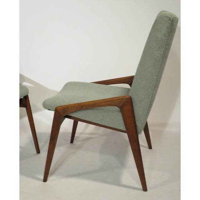 Midcentury Modern Walnut Dining Chairs - Set of 4 - Image 3 of 10