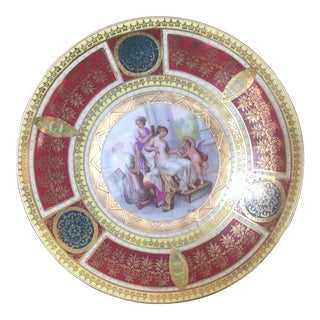 Royal Vienna Gilt Decorated Cabinet Plate For Sale