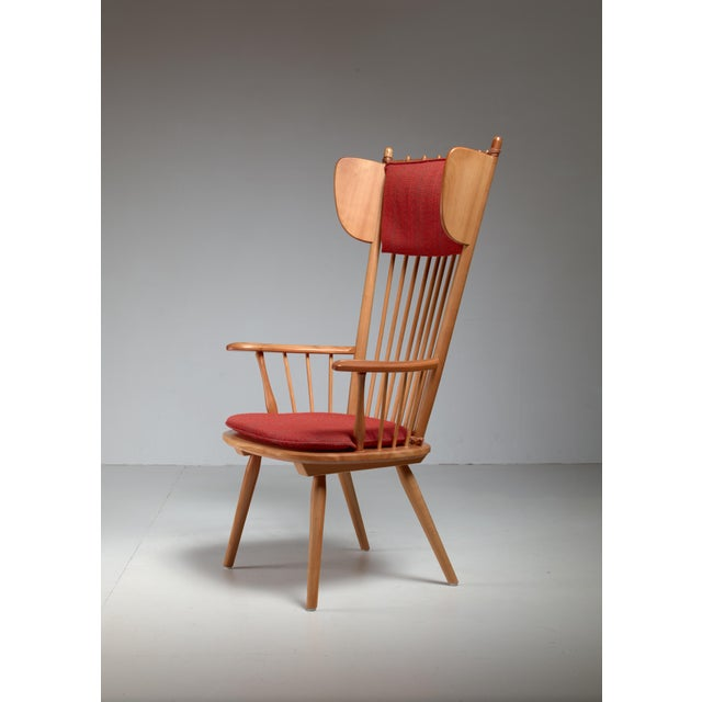 Albert Haberer Wingback Armchair, Germany, Circa 1950 For Sale - Image 11 of 11