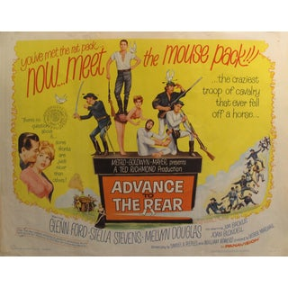 """1964 Original American Movie Poster - Advance to the Rear - """"You've Met the Rat Pack... Now Meet the Mouse Pack!!"""" For Sale"""