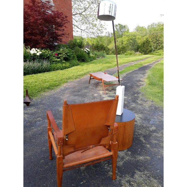1960s Vintage Mid Century Wilhelm Kienzle for Wohnbedarf Style Safari Chairs- a Pair For Sale - Image 5 of 11