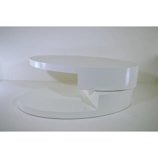 1970s Rotating Coffee Table in the Manner of Gabriella Crespi For Sale - Image 5 of 9