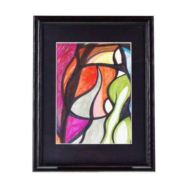 """Pat Gallagher Signed Original Abstract Art Approximate Frame Dimensions: 14"""" wide x 18"""" high Approximate Art Dimensions:..."""