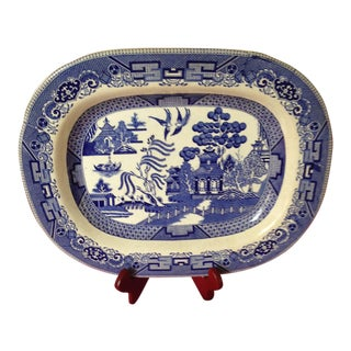 Antique Buffalo Blue Willow Platter