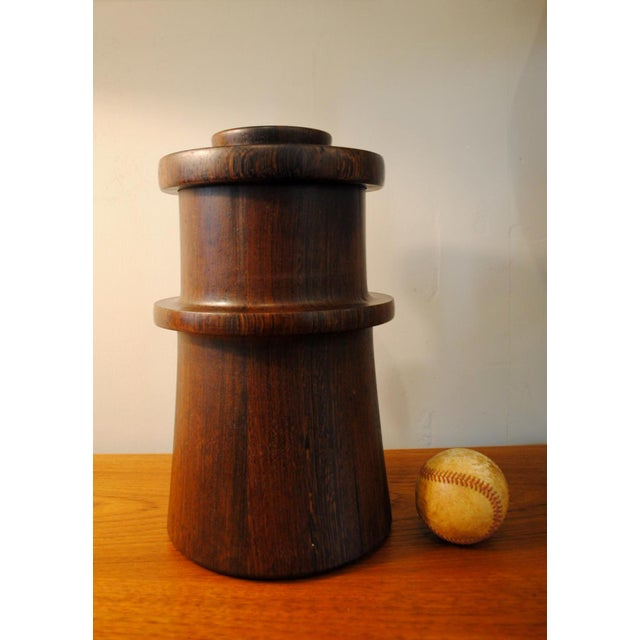 Rare Dansk Wenge Wood Ice Bucket by Jens Quistgaard For Sale - Image 12 of 13