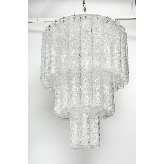 Murano Glass Tube Chandelier For Sale In New York - Image 6 of 10