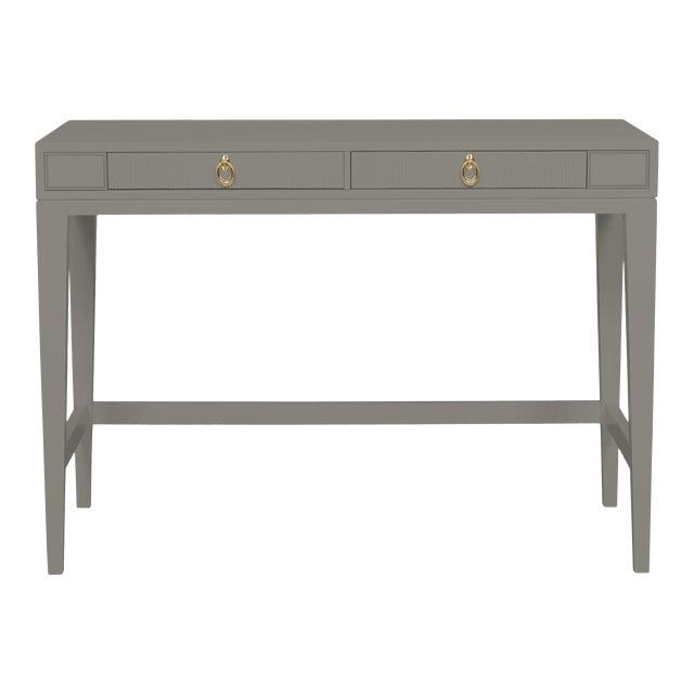 Casa Cosima Living Issa Counter Height Desk - Chelsea Gray For Sale