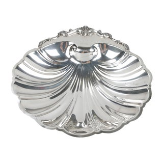 Signed Silver on Copper Clam Shell Bowl For Sale