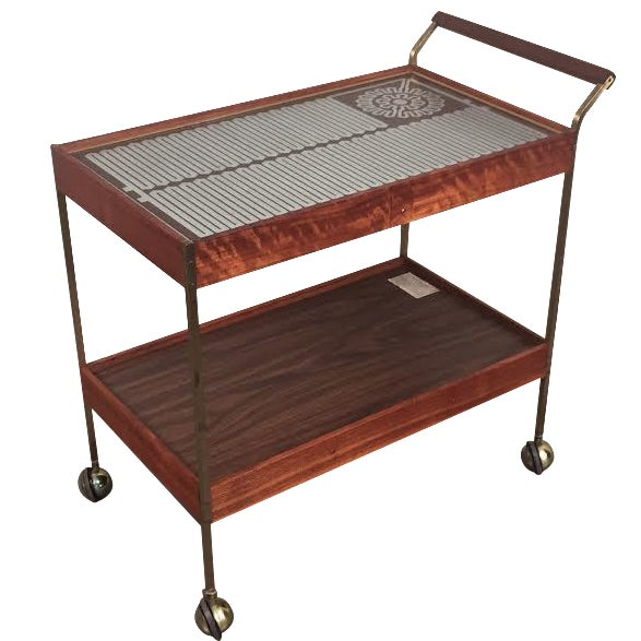 Mid-Century Modern Salton Hot Tray Cart For Sale