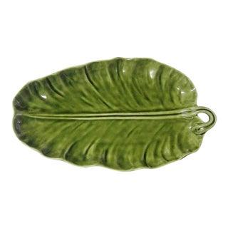 Majolica Olfaire Banana Palm Leaf Plate
