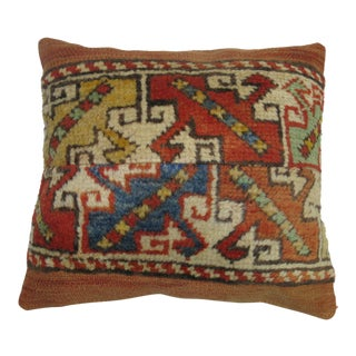 Vintage Turkish Bergama Rug Pillow For Sale