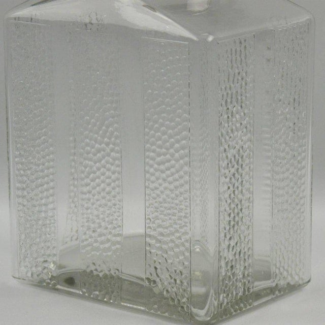 Art Deco Glass and Chrome Kitchen Canister Jar - a Pair - Image 8 of 9