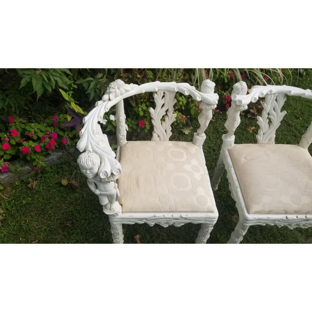 19th Century Style Fois Bois Carved Chairs For Sale - Image 4 of 9