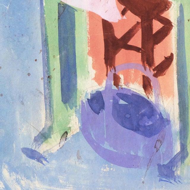 Victor Di Gesu 'Still Life With Daffodil and Lemons' by Victor DI Gesu; California Post-Impressionist, Chouinard Art School, Paris For Sale - Image 4 of 6
