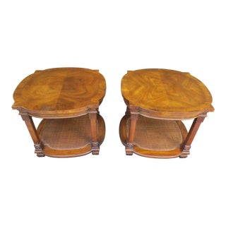 20th Century Empire Heritage Two Tiered Side Tables - a Pair For Sale