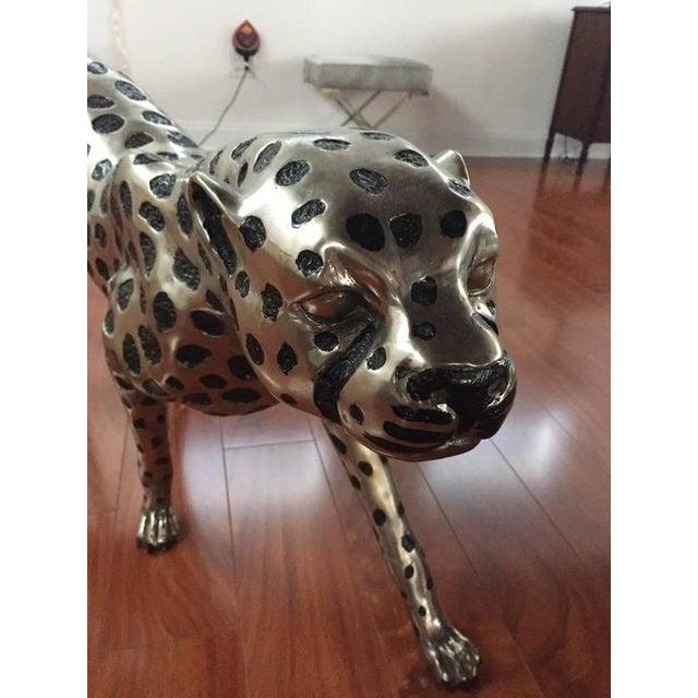 Cheetah Metal Sculpture For Sale - Image 4 of 9
