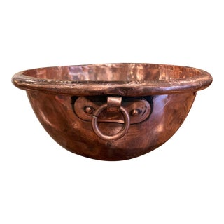 18th Century French Copper Jelly Bowl From Normandy For Sale