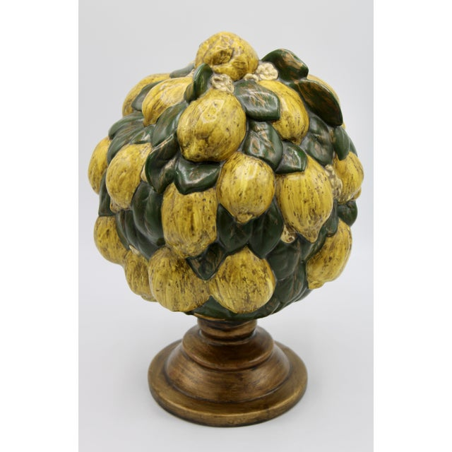 Vintage Italian Floral Lemon Tree / Topiary For Sale - Image 10 of 13
