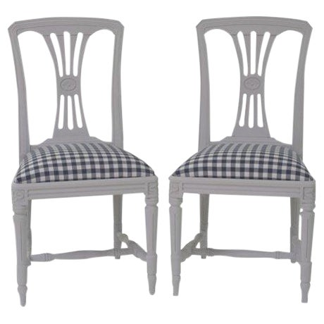 Swedish Side Chairs - A Pair - Image 1 of 4