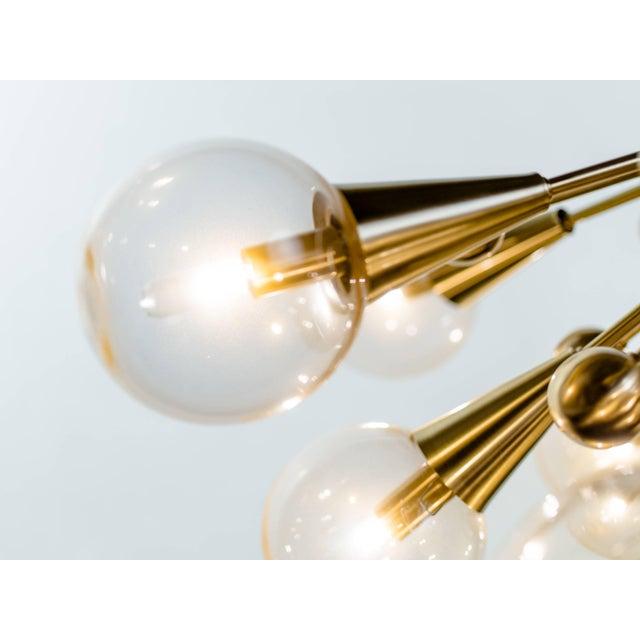 Metal Sputnik Chandelier For Sale - Image 7 of 11