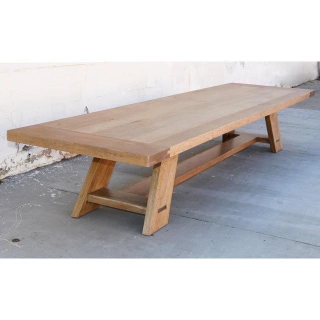 Rustic Banquet Table Made From Rift Sawn White Oak For Sale - Image 12 of 13