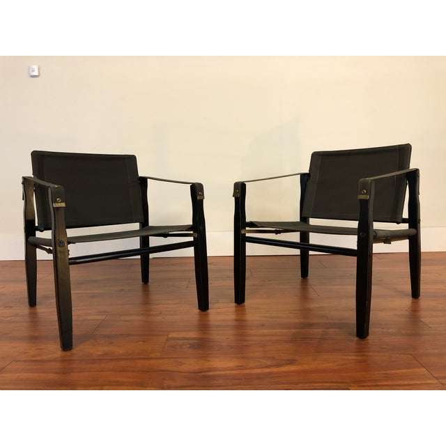 Vintage Gold Medal Safari Chairs -Wood and Canvas - a Pair For Sale - Image 13 of 13