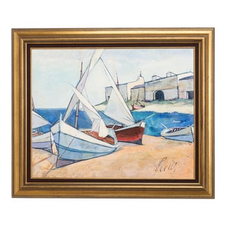A Seascape Painting by Charles Levier For Sale