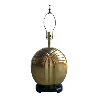 Brass Deco Revival Lamp For Sale