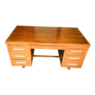 Classic Vintage Wooden Tanker Desk