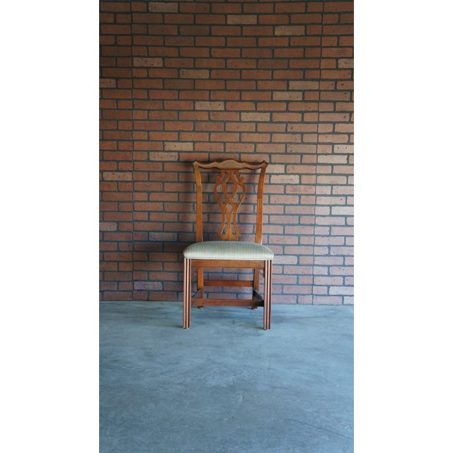 Green 1990s Vintage Ethan Allen Georgian Court Dining Chair For Sale - Image 8 of 8