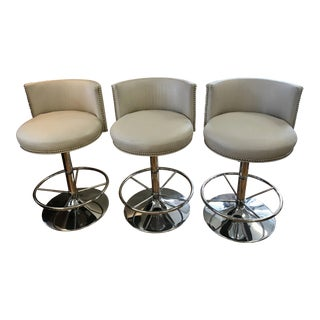 1990s Contemporary Snug Harbor Furniture Counter Stools - Set of 3 For Sale