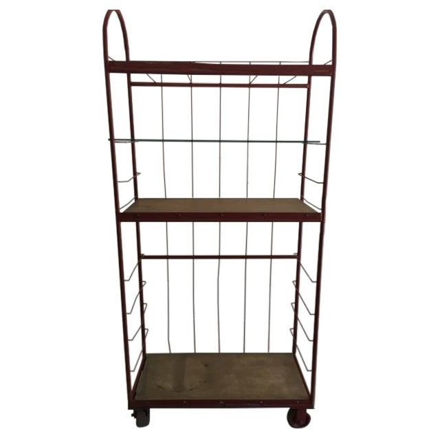 Red Industrial Cart on Wheels - Image 1 of 6