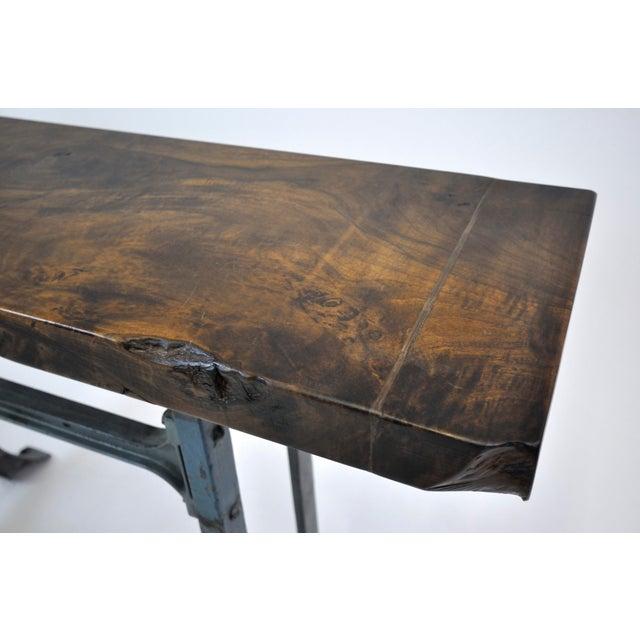 Handmade Walnut & Steel Console Table - Image 6 of 10