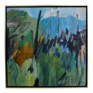 "Laurie MacMillan ""Blue Beyond"" Abstract Landscape For Sale"