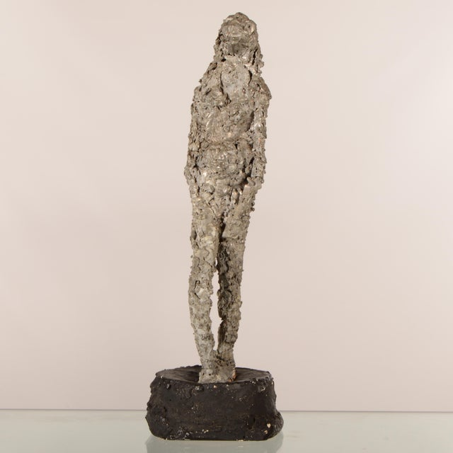 """""""Silver Lady"""" Figurative Sculpture Statue For Sale - Image 4 of 12"""