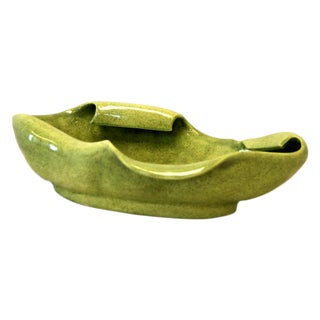 Red Wing Mid Century Green Pottery Bowl