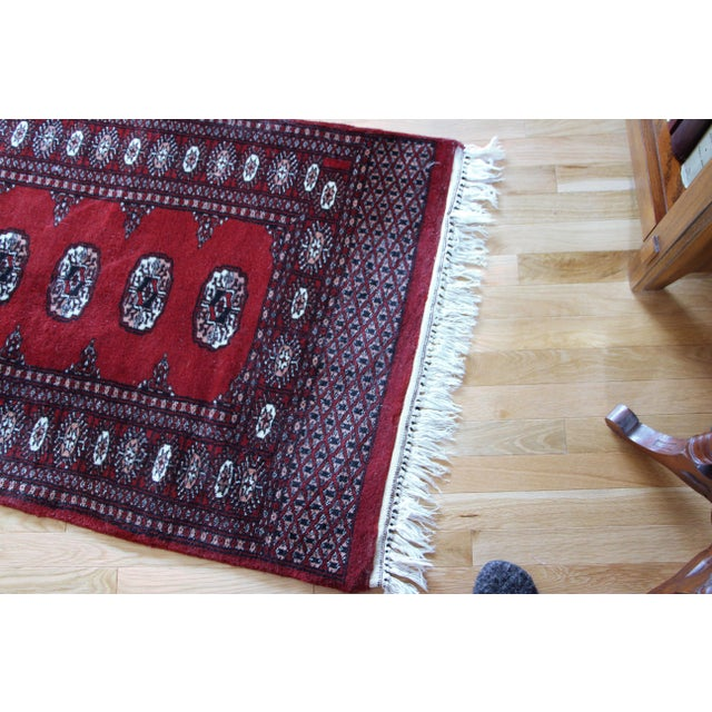 Pakistan Bokhara Hand-Knotted Runner - 2′8″ × 20′ - Image 6 of 7