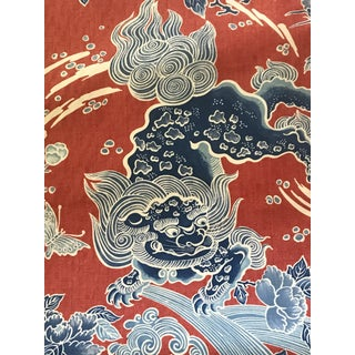 Chinoiserie Brunschwig & Fils Shishi Poppy Fabric - 7 Continuous Yards Preview