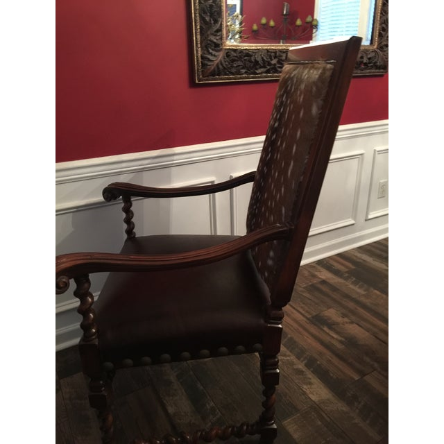 Old Hickory Tannery Dining Chairs - A Pair For Sale - Image 10 of 13