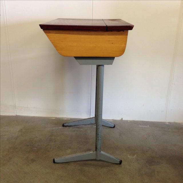 Belgian Vintage 1960s Children's School Desk For Sale - Image 3 of 8