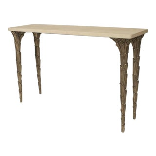 21st Century American Lacquer and Patinated Bronze Console Table, Carole Gratale For Sale
