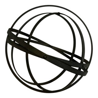 Collapsible Iron Armillary Garden Sphere Decor For Sale
