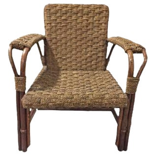French 1940s Rattan Armchair