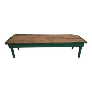 20th Century Rustic Primitive Recycled Threshing Coffee Table For Sale