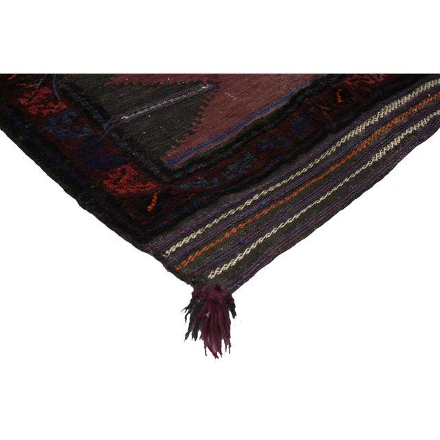 "Vintage Afghan Saddle Bag - 4'3"" x 4'8"" - Image 3 of 5"
