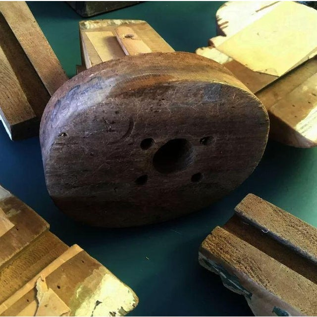 Wood Antique Wooden Millinery Bulbous Hat Mold For Sale - Image 7 of 11